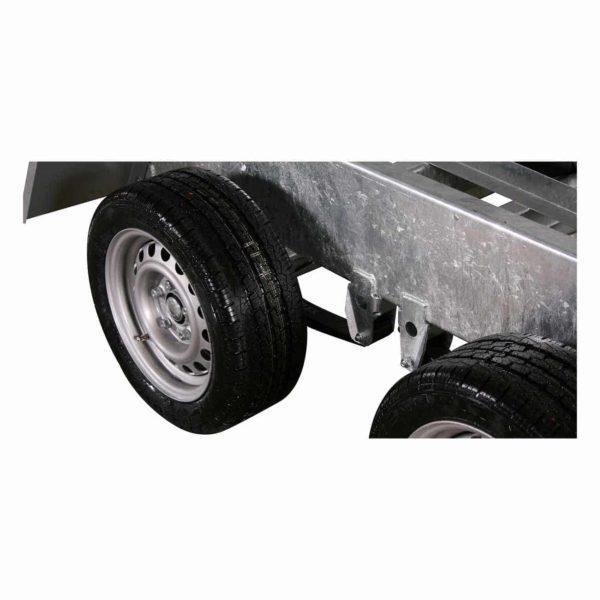 Variant 3017 TB nærbillede af hjul og bladfjedre